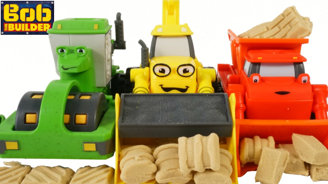 Bob the builder mash and mold toys scoop muck rolley construction bob the builder mash and mold toys scoop muck rolley construction machines play sand playdoh youtube sciox Images