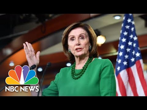 Nancy Pelosi Speaks After Senate Passes Coronavirus Stimulus Package | NBC News (Live Stream)