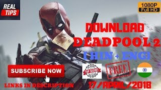 DEADPOOL 2 | DOWNLOAD | DUAL AUDIO | 720p | BEST QUALITY |