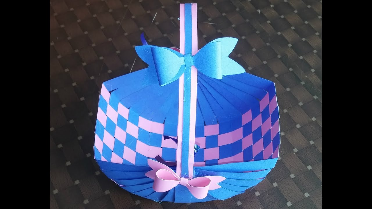 Easter basket how to make a paper basket youtube negle Image collections