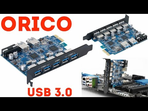 ШУСТРАЯ PCI EXPRESS ПЛАТА ORICO USB 3.0 PVU3-5O2U. АЛИЭКСПРЕСС
