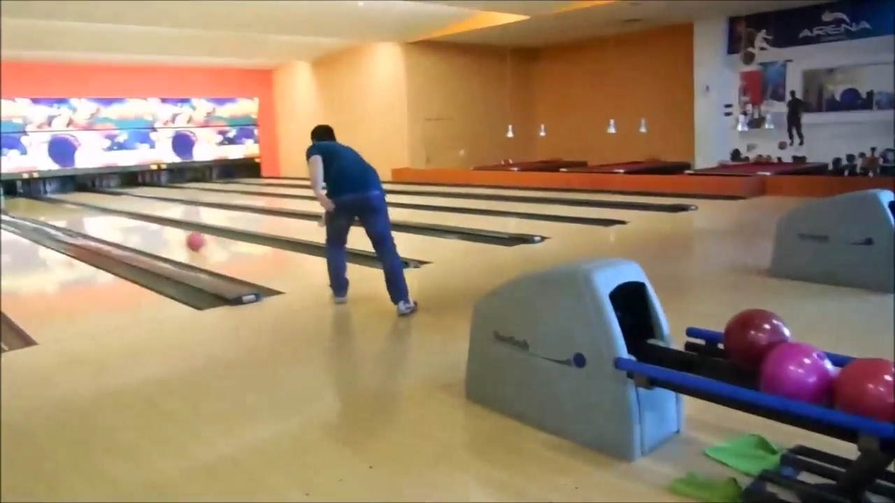 how to make a bowling ball curve