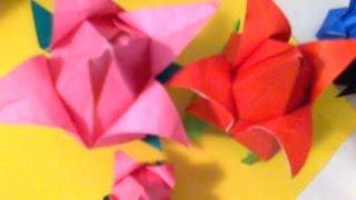 Easy Step ..origami Tulip