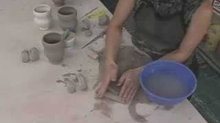 clay demo 6 pulling and attaching handles to mugs
