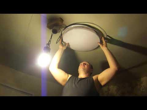 Как крепить потолочный светильник к потолку
