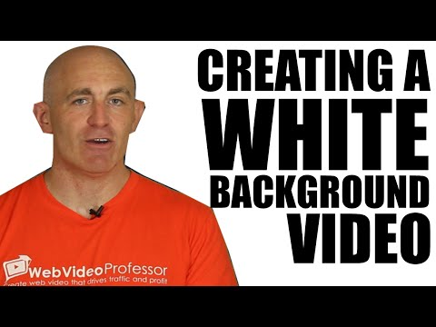 How to shoot a video with an infinite white screen background