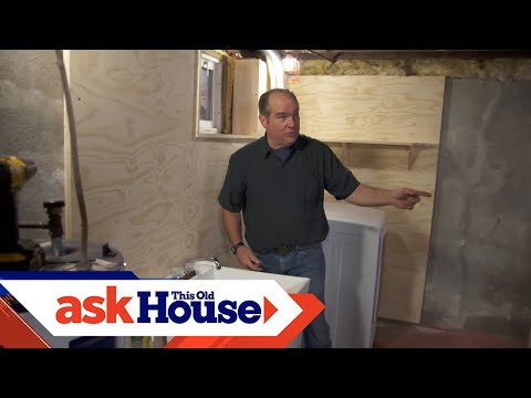 Attrayant How To Install A Basement Laundry   YouTube