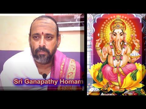 Ganapathi Homam by  Sri Rajagopala Ganapatigal | கணபதி ஹோமம்