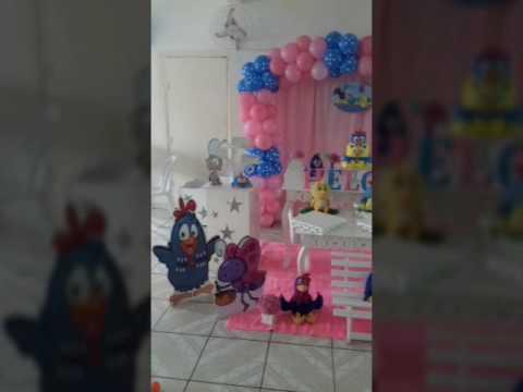 Decoração Aniversário Infantil Galinha Pintadinha Rosa Youtube