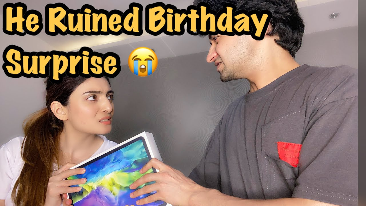 MY HUSBAND'S PRE BIRTHDAY SURPRISE AND HE RUINED IT ALL | LOOK WHAT I PURCHASED & HOW HE CAUGHT