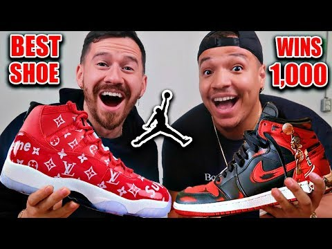 Best Custom NIKE Jordans Wins $1,000!! (Impossible Fashion Basketball Sneaker Challenge)