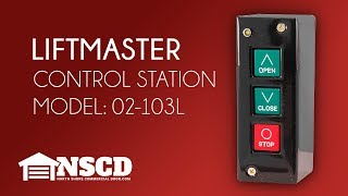 Liftmaster 02103L 3-Button Garage Control Station New In Box
