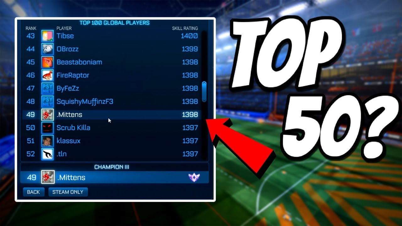 I AM TOP 50 ON THE GLOBAL LEADERBOARD!? | Competitive 2v2 (Rocket League  Gameplay)