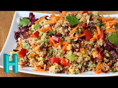 How to Make Rainbow Quinoa Salad Recipe | Hilah Cooking