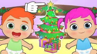BABY ALEX AND LILY 🎄 How to Decorate Christmas Tree | Christmas Games for kids