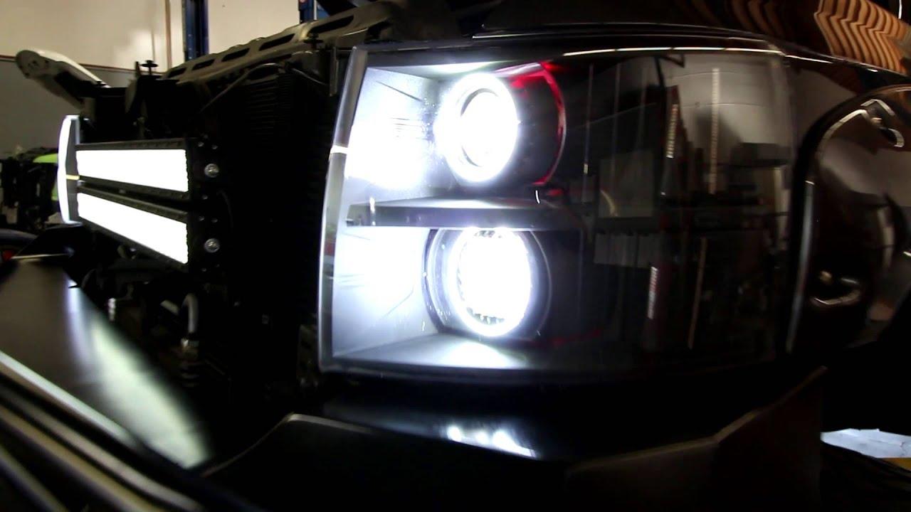 sema chevy build plain n simple head lights youtube