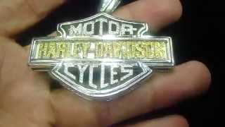 Solid 10K Real Gold Harley Davidson Custom Pendant Real Diamond (M4H06583)