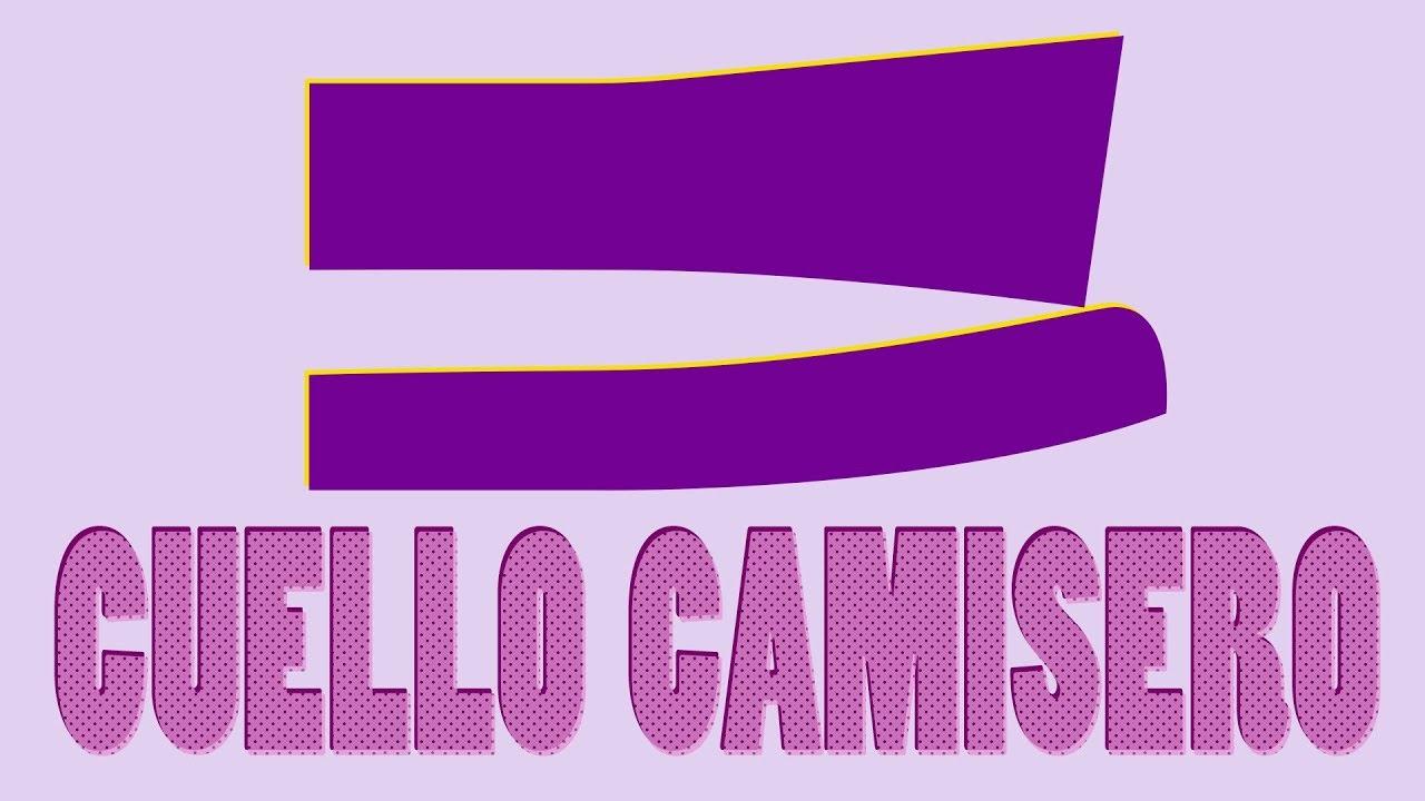 2ee705b91 Cómo hacer el Patrón o Molde del Cuello Camisero Paso a Paso