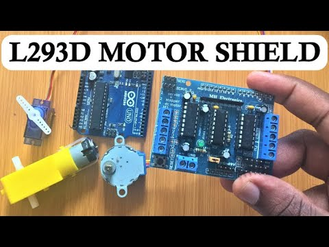 L293D MOTOR DRIVER SHIELD WITH ARDUINO
