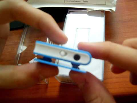 USB Rechargeable Mini Screen-Free Clip MP3 Player with Micro SD/TF Card Slot - Blue - ChinaBuye.com
