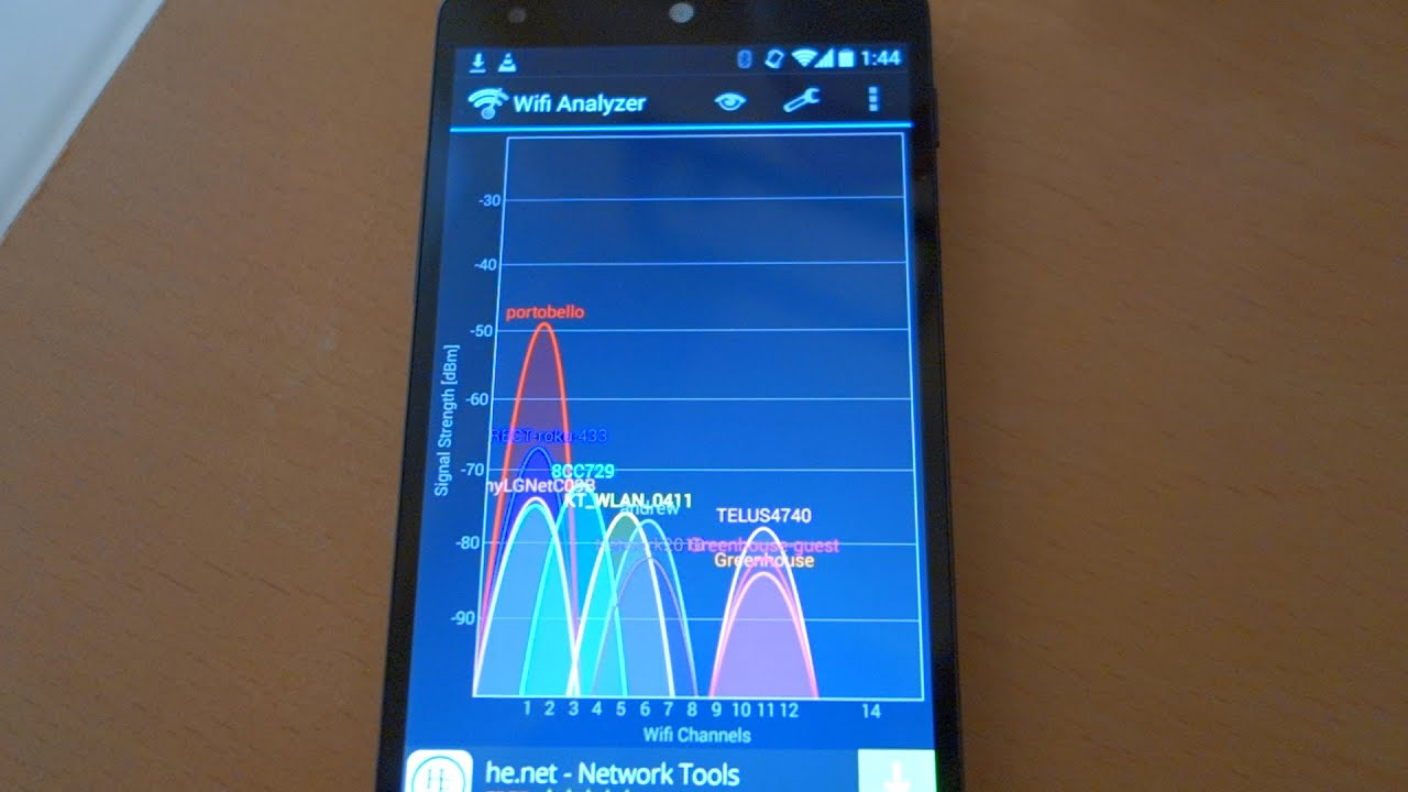 How to use Wifi Analyzer app on Android Tutorial demo by geoffmobile
