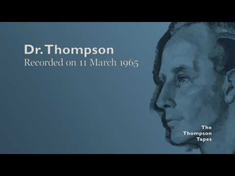 Dr. Thompson, 11 March 1965