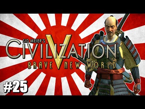 """Civ 5 Brave New World Let's Play - Immortal Japan - Fall Patch - #25 - """"Great War Bombers"""""""
