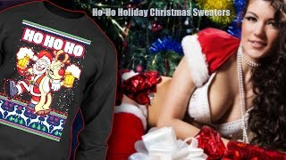Ho-Ho Holiday Christmas Sweaters | Funny Costumes Ugly Sweater
