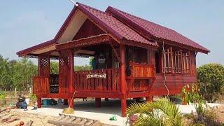 270,000 บาทพร้อมอยู่ กับบ้านไม้น็อคดาวน์ทรงไทยหลังนี้
