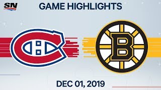 NHL Highlights | Canadiens vs. Bruins - Dec. 1, 2019