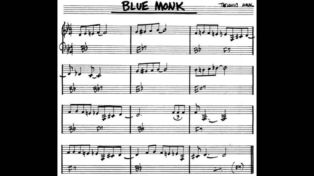 Blue Monk (Solo Jazz Piano) - YouTube
