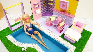DIY Dollhouse With Cardboard | And It Has A POOL!!