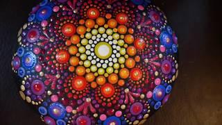 How to paint dot mandalas with Kristin Uhrig #45-  Inner Glow Mandala
