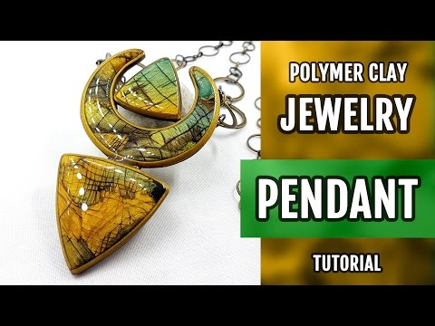 DIY Unusual Polymer Clay Pendant with Faux Labradorite. How to make stylish Pendant. VIDEO Tutorial!