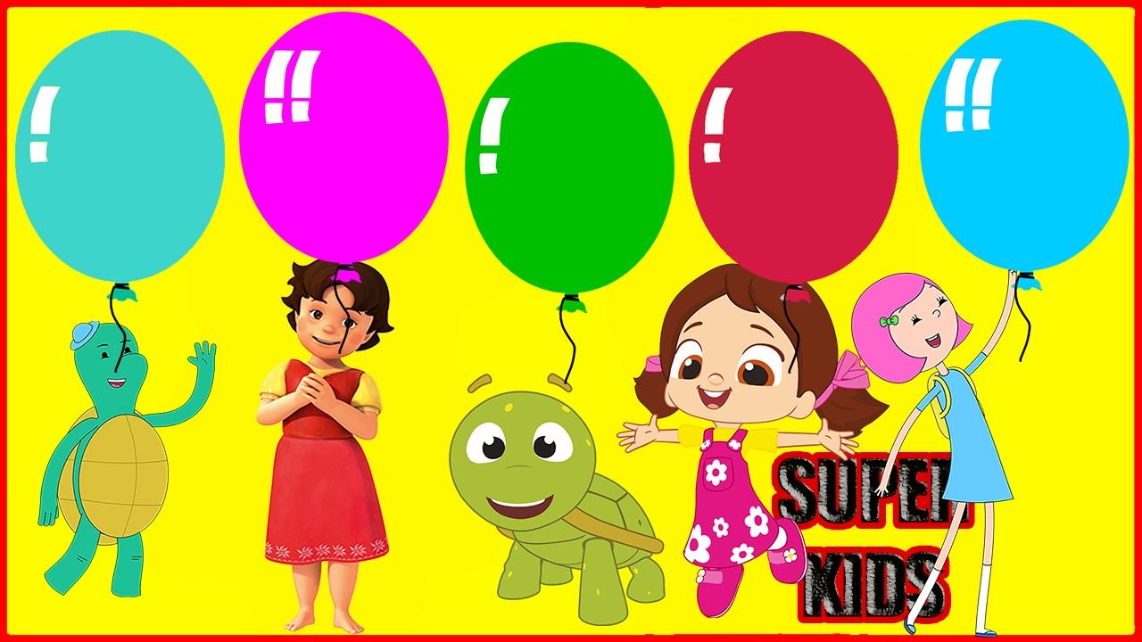 Heidi Ibi Ve Tosi Niloya Ve Tospik Parmak Ailesi Renkli Balon