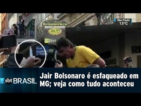 Jair Bolsonaro é esfaqueado em MG; veja como tudo aconteceu | SBT Brasil (06/09/18)