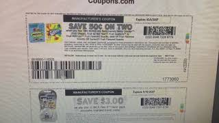 COUPONS.COM \u0026 PRINTING DUPLICATE COUPONS 9/2/17