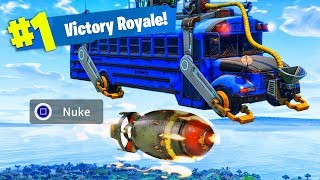 DROPPING A NUKE FROM THE BATTLE BUS! (NEW KILLSTREAK!) - Fortnite: Battle Royale