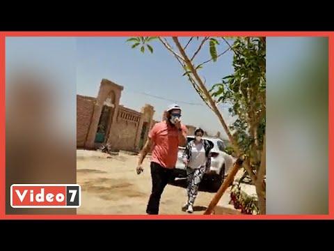 فيديو حصرى.. إيمى سمير غانم وحسن الرداد يزوران قبر سمير غانم فى الجمعة الأولى بعد وفاته
