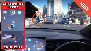 This OLD AutoPilot software is better than the new Update!! - Tesla Autopilot in a UK City #6 Leeds