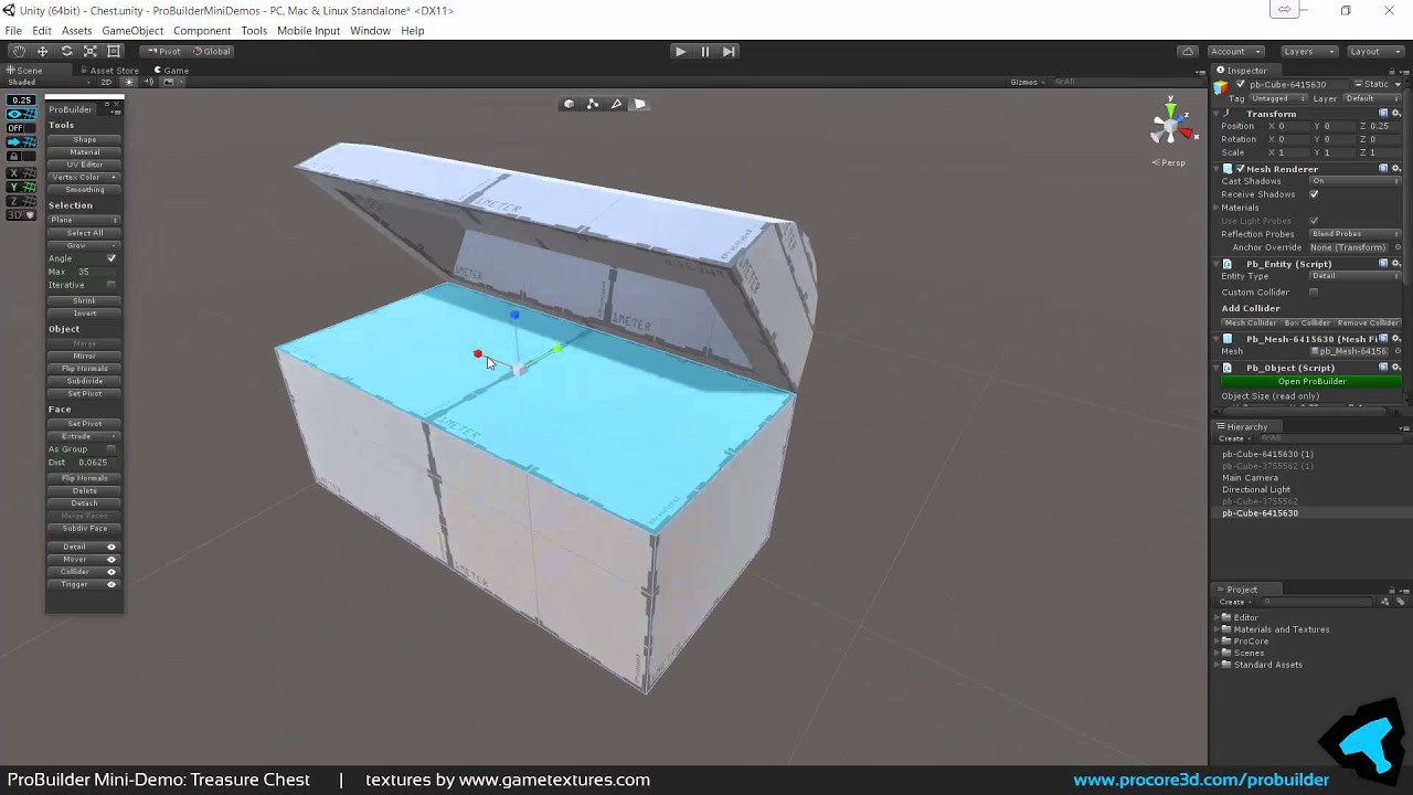 Mini-Demo: Simple `Treasure Chest` in Unity, with ProBuilder by Gabriel  Williams