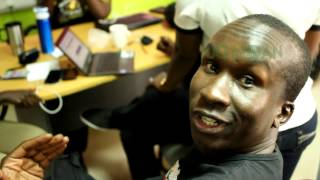 KLEAR KUT half The Mith Music on his EH MaMA promo routine at Xfm in Kampala Uganda