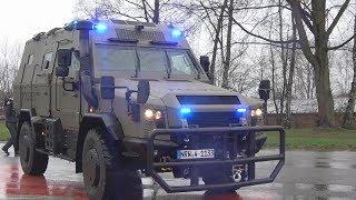 Übergabe des neuen geschützten Einsatzfahrzeugs Survivor R an SEK Essen am 17.12.18 + O-Töne