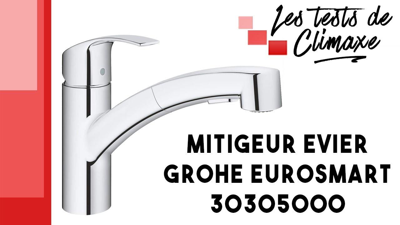 test d un robinet mitigeur d evier grohe eurosmart 30305000