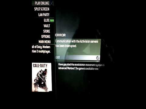 Ps3 servers mw3 Online Services