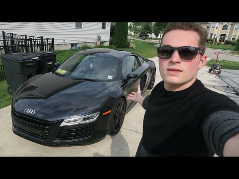 I'M GIVING AWAY MY CAR!?! (AUDI R8 V10) - SUPERCAR