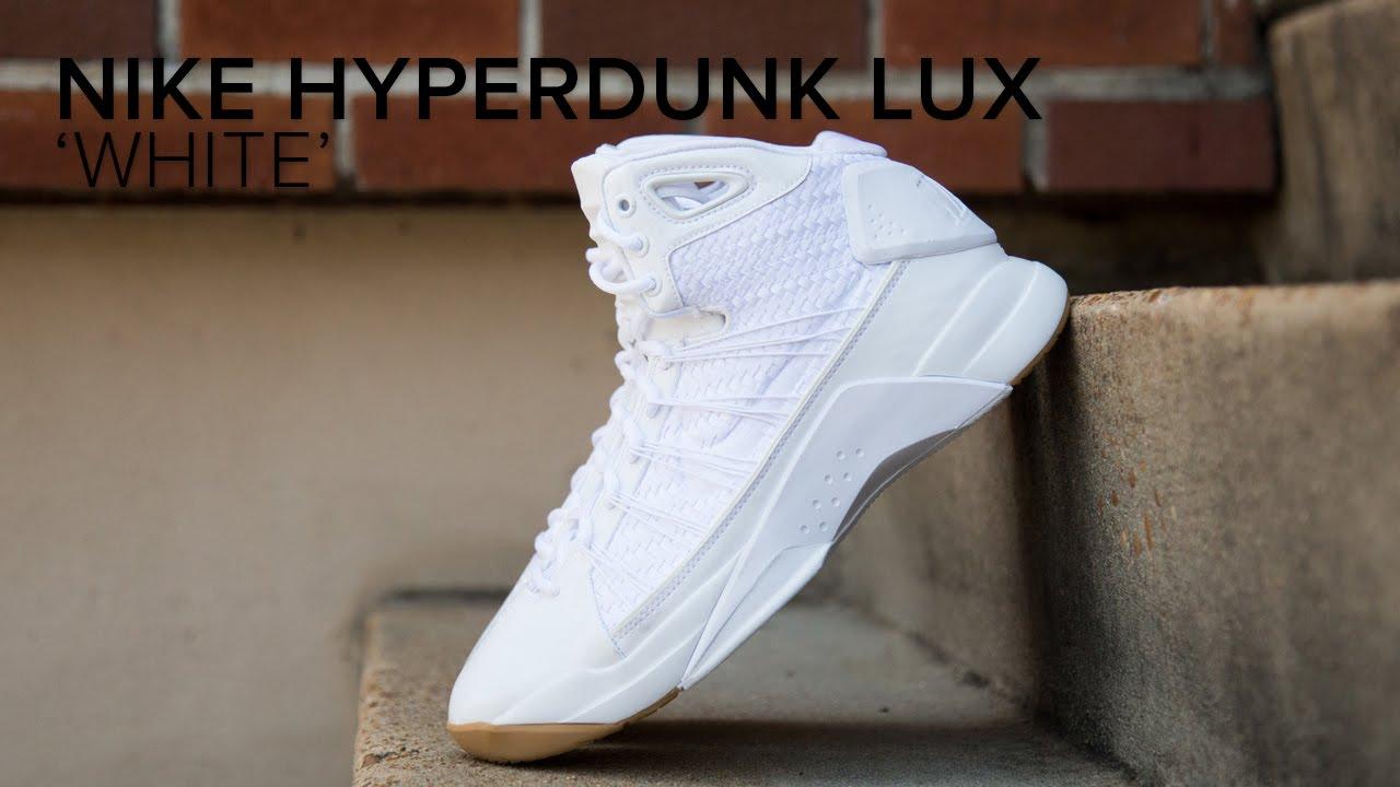 size 40 01468 781de Nike Hyperdunk Lux  White  Quick On Feet Look - YouTube