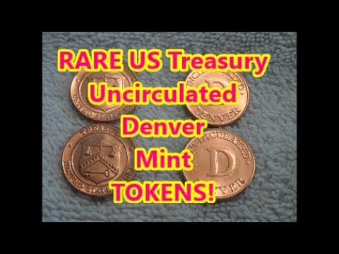 Double RARE Find Penny Box US MINT Uncirculated TOKENS /Diggin' Florida W/ Rob!