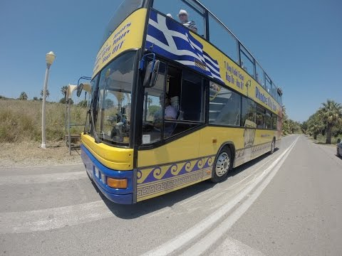 Hop on Hop off Yellow Bus - Rhodes, Greece