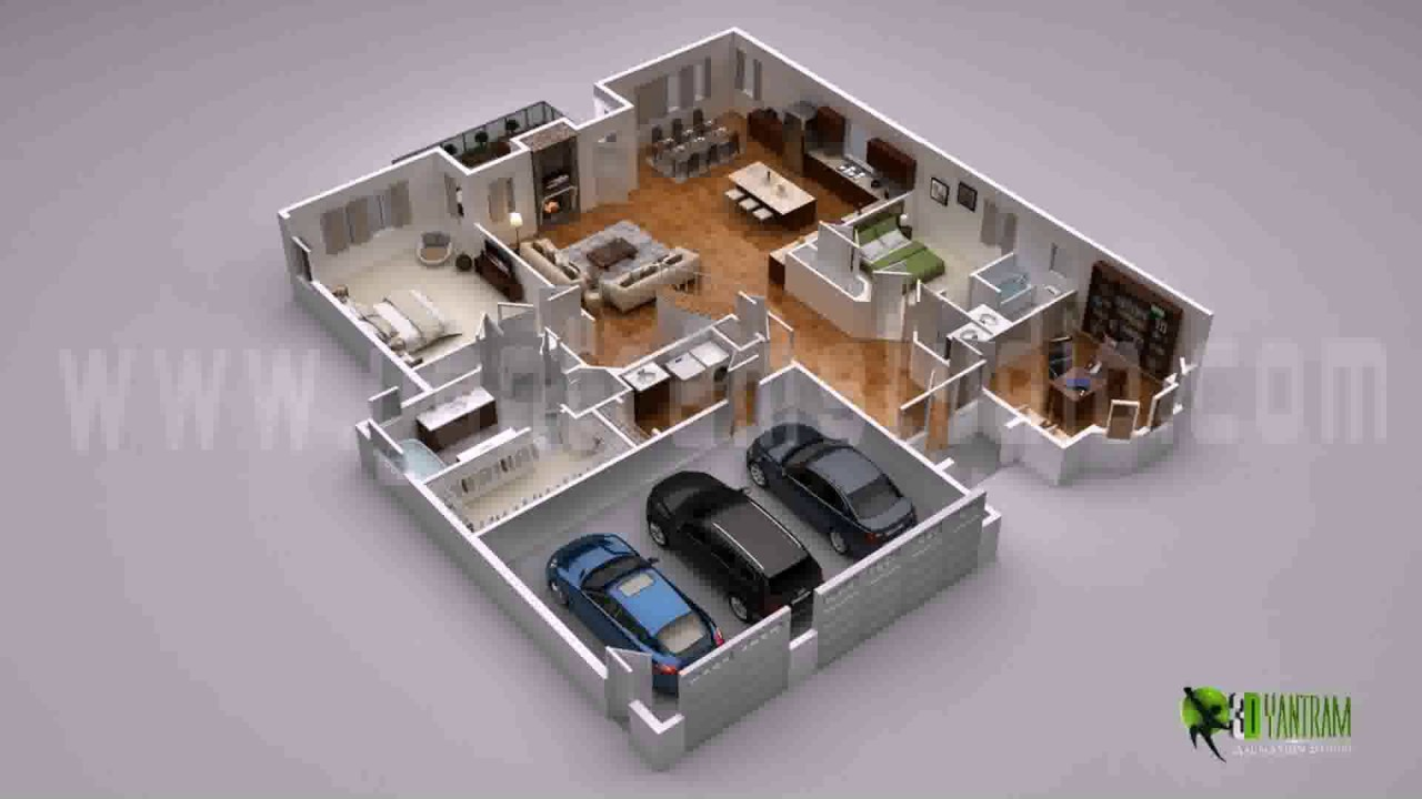 Duplex House Plans 3d View